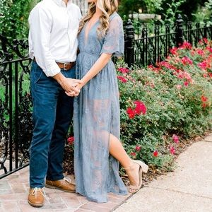 Honey Punch Lace Maxi Romper